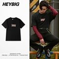 2016 Fall new Korean Print Tee shirts HEYBIG hiphop Male T-shirts Dragon Printed Tops cotton Rapper Clothing Asian SIZE S-3XL