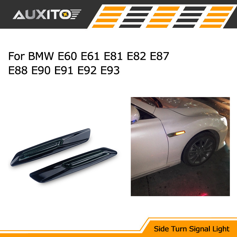 For BMW E90 E91 E92 E93 Car LED Fender Side Marker Turn Signal Light for BMW E60 E61 E81 E82 E87 E88 325i 325xi 328i 525i 528i