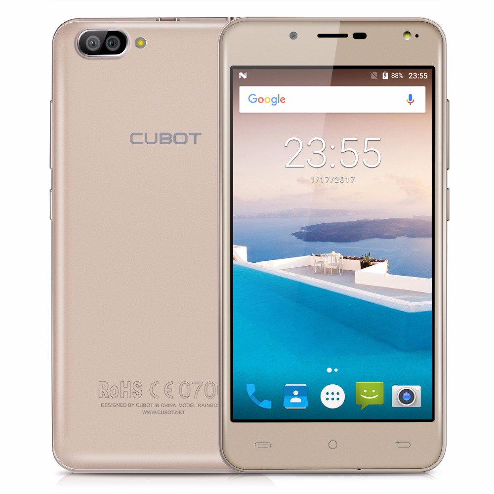 cubot rainbow 2 5 0 inch mtk6580a quad core smartphone 1gb ram 16gb rom rear dual cameras cell. Black Bedroom Furniture Sets. Home Design Ideas
