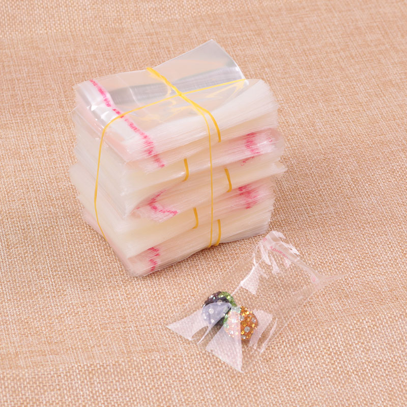 1000pcs/lot 3x3+2cm Clear Plastic Bag Resealable Cellophane Poly Bags Mini Opp Bag Self Adhesive Seal Jewelry Packaging Bags