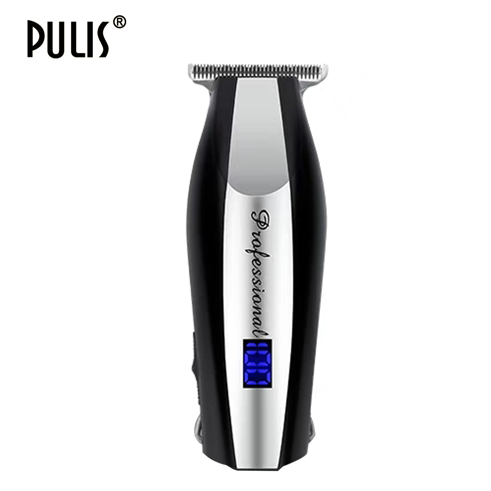 PULIS Hair Clipper Professional 100-240V Rechageable Electric Hair Trimmer With Digital Display Shaver Machine Barber Tool Razor