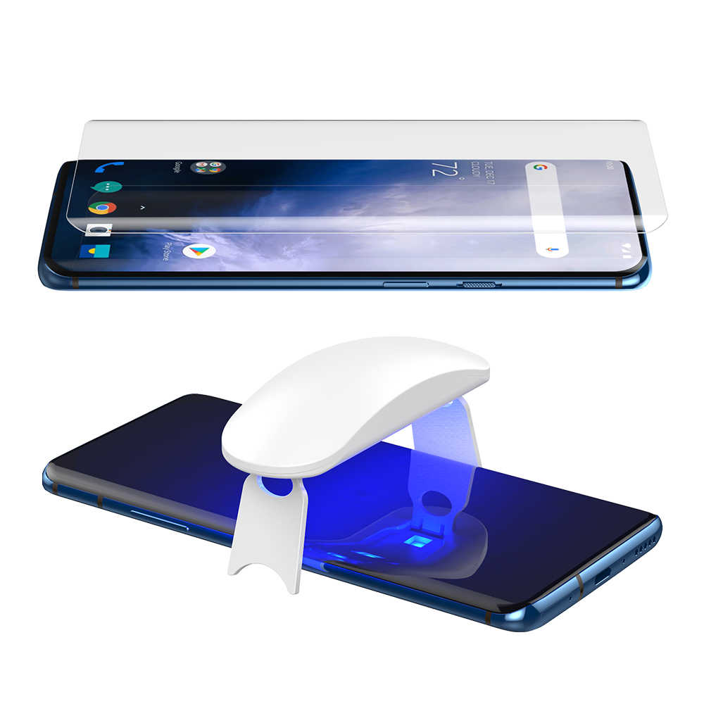5D UV Full Glue Tempered Glass For OnePlus 7 Pro Screen Protector Curved Glass OnePlus7 Pro Full Tempered Glass For Oneplus7Pro
