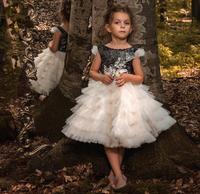 2018 new first communion dresses for girls little tutu gown for birthday party high quality flower girl dresses