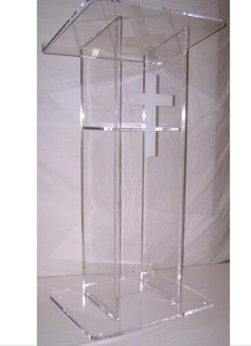 Acrylic Wedding Podium Stand, Modern Acrylic Lectern Podium Pulpit For Sale