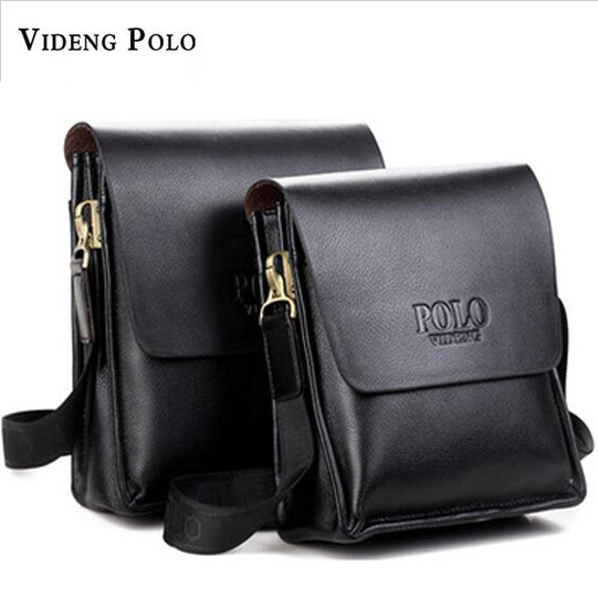 2017  Famous Brand Videng Polo High Quality Leather Men Messenger Bags Fashion Casual Men Business Crossbody Bags Briefcase M001
