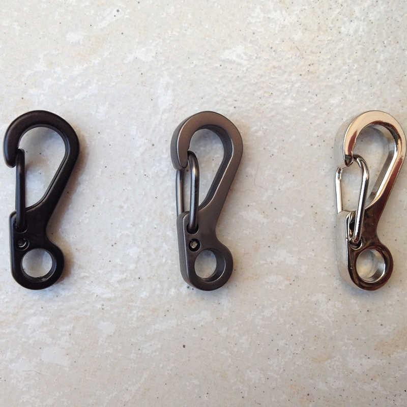 Alta Qualidade Aparelhos de Campismo Mosquetão de Escalada Ao Ar Livre Pendurado Fivela Primavera Clipe Gancho Keychain Mini Chaveiro de Metal