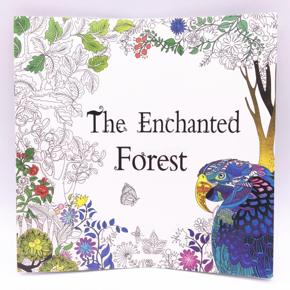 The enchanted forest colouring book nz - 1pcs 12 Sheets 24 Page Adult Child Graffiti Book The Enchanted Forest A Colouring Book Intellectual