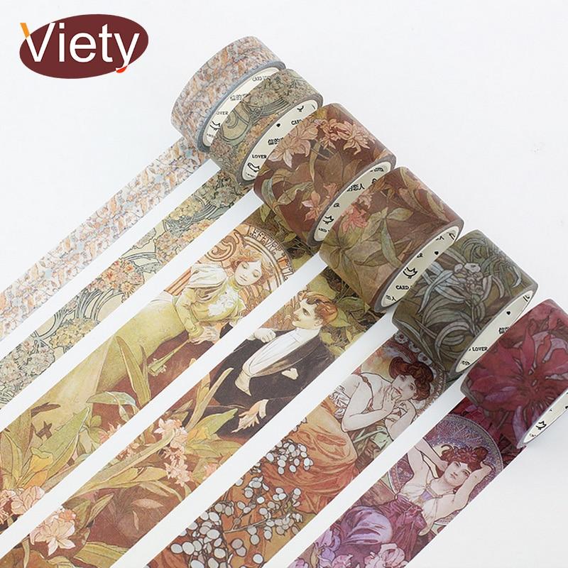 1.5-10 cm * 5-7 m Vintage Europeo opera epic washi nastro adesivo FAI DA TE decorazione scrapbooking planner adesivo nastro adesivo nastro washitape