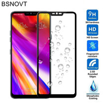 2pcs Screen Protector For LG G7 Glass Tempered Full Coverage 2018 G710 Cover BSNOVT