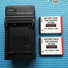 Original soocoo s80/s70/s60/s60b acessórios de câmera ação 1050mah bateria com carregador para s60 s60b s70 esporte câmera clownfish
