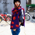 Wave Point Dot Oversize Scarves Women Wool Wrap Shawl Neck Warmer Cape Scarf Winter Girls Muffer