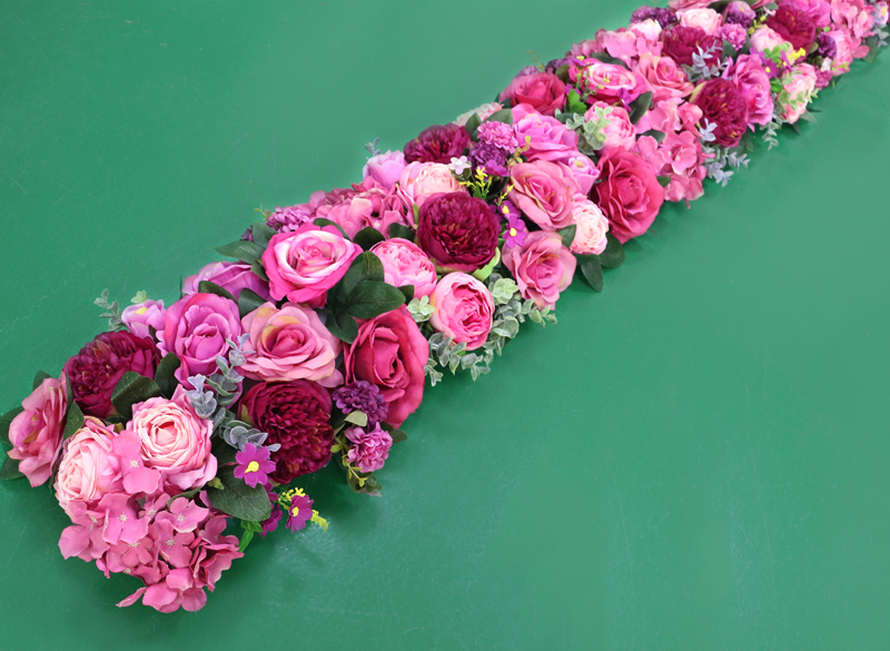 JAROWN Artificial 2M Rose Flower Row Wedding DIY Arched Door Decor Flores Silk Peony Road Cited Fake Flowers Home Party Decoration Maison (22)