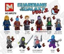 Único super heróis marvel Guardians Of the Galaxy Vol. 2 Foguete Yondu kit brinquedos blocos de construção de brinquedos para crianças