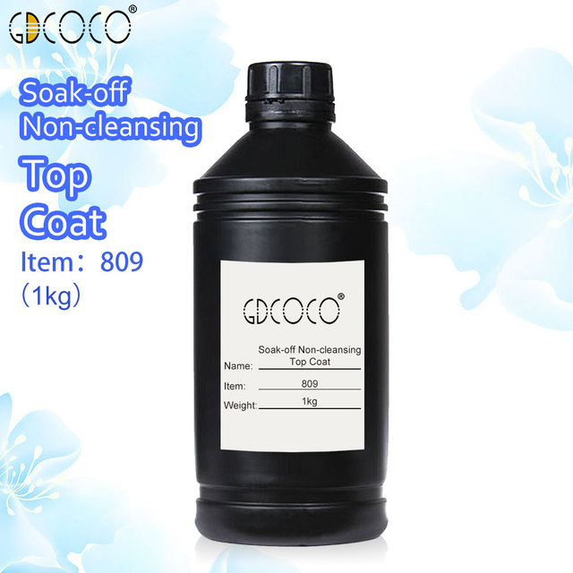 #809 CANNI suply 1000ml 1 galon nail art tips soak off uv led nail gel polish no cleansing no wipe without sticky layer top coat