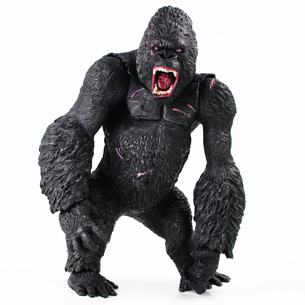 King Kong Gorilla Model Action Figure PVC Doll Collection Skull Island Gift Toy