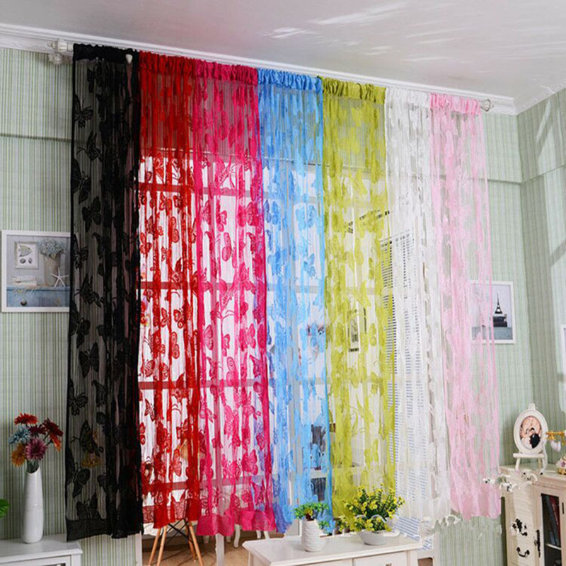 Divider Tassel-String Fly-Net Door-Curtain-Wear Window-Room For Choice Rod Butterfly