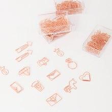 20 шт/кор зажимы для бумаги в форме сердца с гальваническим