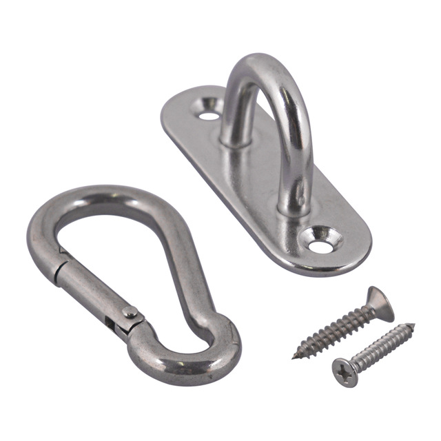 Us 8 4 11 Off 2pcs M6 Ceiling Hook Hammock Swing Hook Indoor Outdoor Carabiners With Self Tapping Screws For Yoga Swing Chair Hammock Hanging In