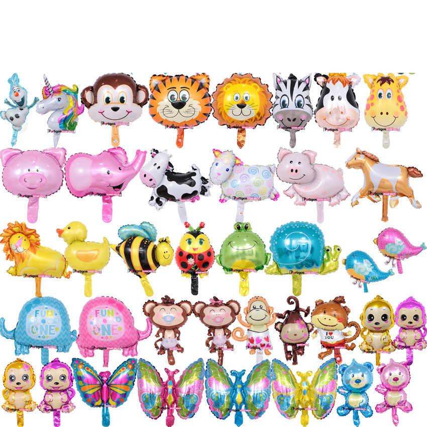 1 pc ミニ漫画動物ミッキーミニー犬アルミ箔風船子供の誕生日パーティー結婚式の装飾子供のおもちゃ balloo