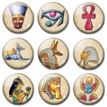 Egypt Scarab Anubis 30MM Fridge Magnet Glass Pharaoh God Egyptian Ankh Refrigerator Magnetic Holder Home Decor