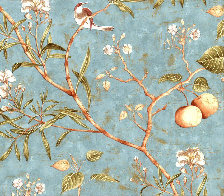American Vintage Do The Old Apple Tree Flower Pattern Wallpaper Bedroom Living Room Background Pure Paper Mural Wallpa In Wallpapers From Home