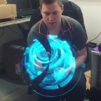 Steel Universal LED Holographic Projector Portable Hologram Player 3D Holographic Dispaly Fan Unique Hologram Projector