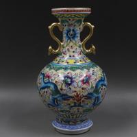 Antique QingDynasty porcelain vase,Pastel appreciating bottle,Home Decoration,handmade crafts/Collection