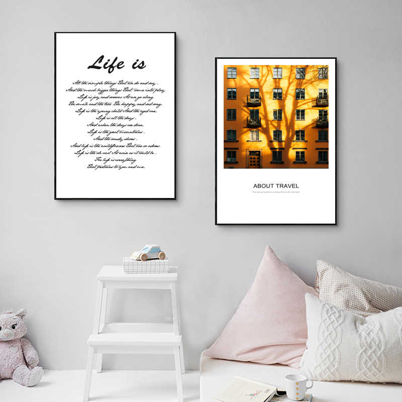 Europe City Bike Scenery Yellow Car Retro Picture Canvas poster Art Decoration Canva painting Bedroom Living Room Modern Decor