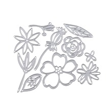 Wild  Flower And Leaf Metal Cutting Dies Stencil For DIY Scrapbooking Decorative Embossing Suit Paper Cards Die Template