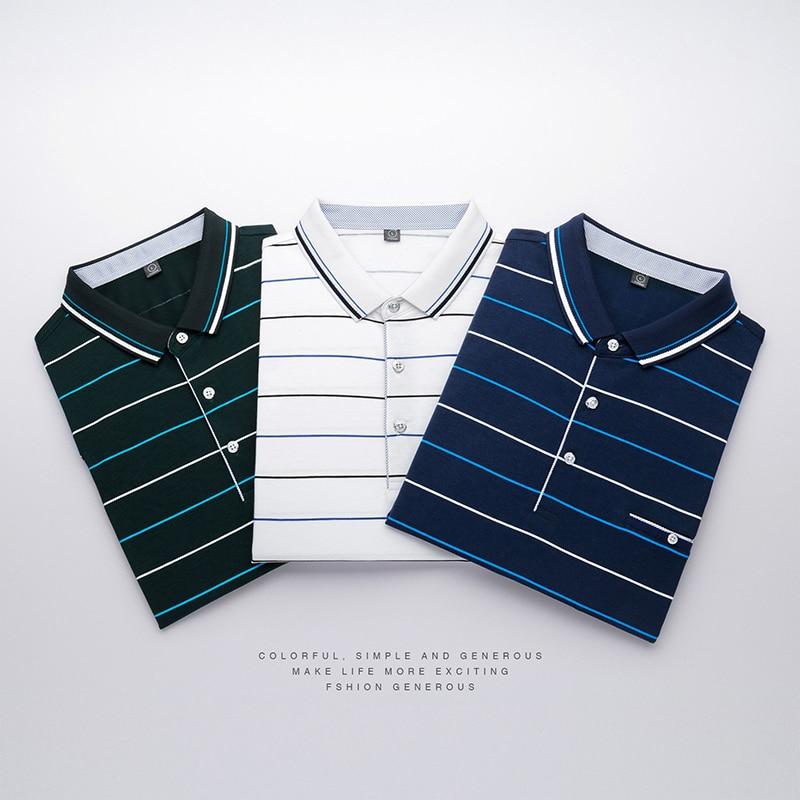 AIRGRACIAS Summer New Men   POLO   Shirts Tops Tees Short Sleeve Breathable Striped   Polo   Shirt Men Brand Men's   polos   Size M-3XL