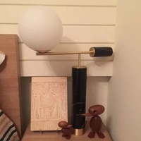 Мода Европа мрамор прикроватной тумбочке освещение стол настольные лампы для спальня украшения дома покрытием Металл + стеклянный шарообр