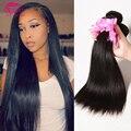 Grau 7a cabelo humano não processado malaio reta cabelo virgem 3 pacotes em linha reta malásia virgem cabelo queen hair produto