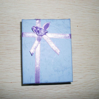 Ribbon Bowknot Flower Purple Blue Gift Paper Boxes Carriying Display Cases Jewelry Packaging for Necklace & Bracelets