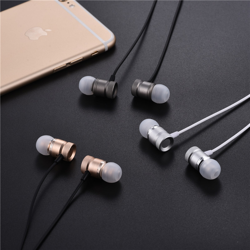 Professional Earphone Metal Heavy Bass Music Earpiece for Xiaomi Mi 5c 6 Mi5c Mi6 Headset fone de ouvido With Mic