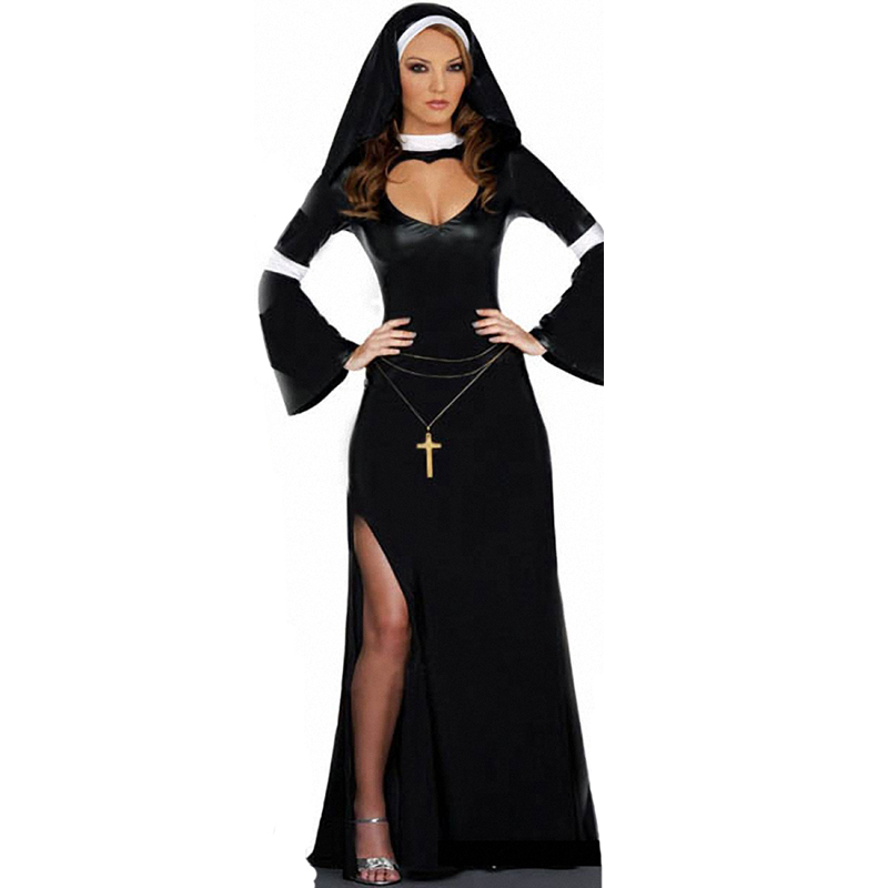 adult holy sister nun halloween costumes sexy nun costumes for women fancy party dresschina - Halloween Costumes Prices