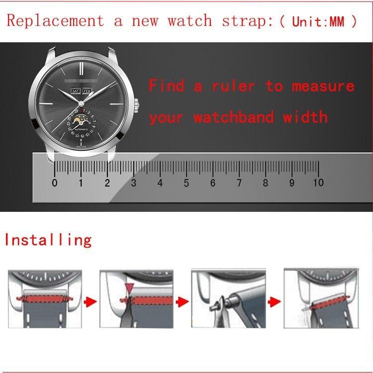 preto branco pulseira de relógio para homens