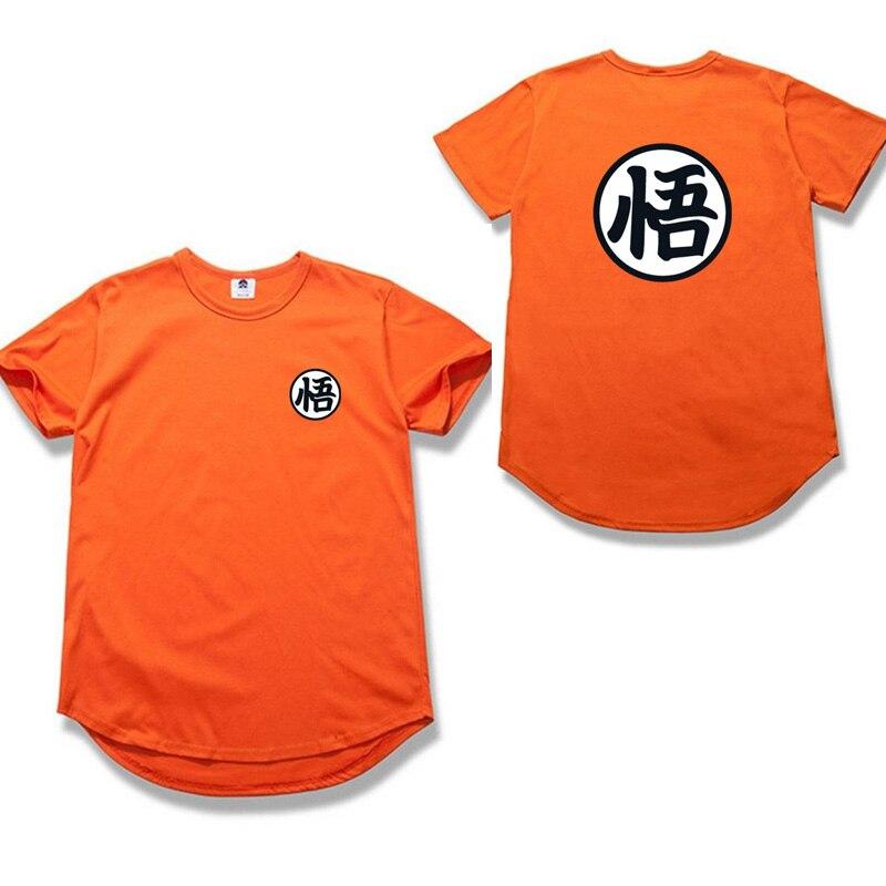 Nueva Bola Del Dragón camiseta de Los Hombres Tee Shirt Homme 2018 Verano estilo Marca dragon ball Anime Ropa O Cuello Camiseta Ocasional t camisa
