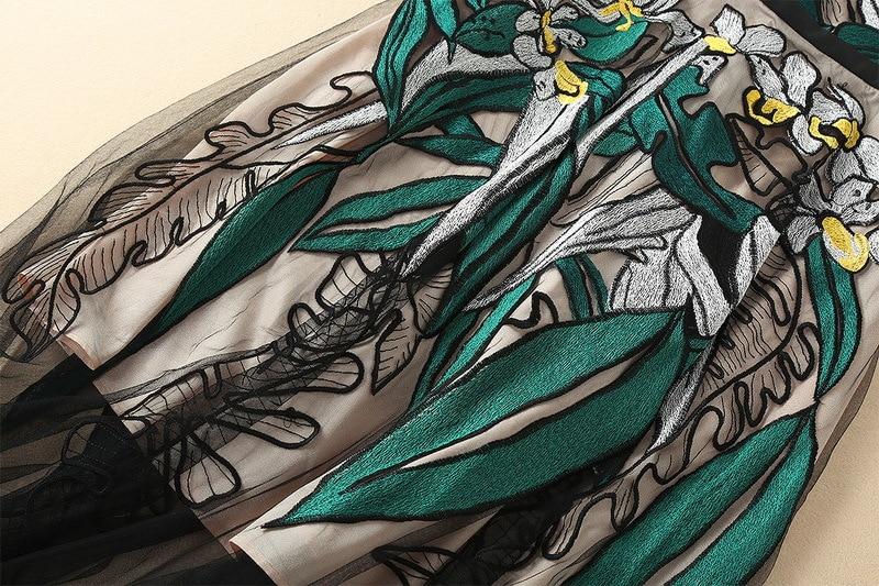 Dentelle Maxi Ziwwshaoyu Dames Noir De Floral D'été Courroie Robe Designer Multi Broderie Vintage Gaine Longue qp7ZgOq