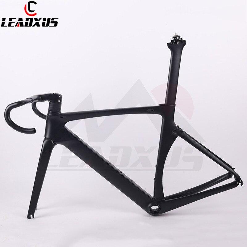 LEADXUS 2019 Newest NV360 Aero Carbon Fiber Racing Bicycle Frame Road Aero Racing Bike Carbon Frame 45/47/49/52/54/56/58cm