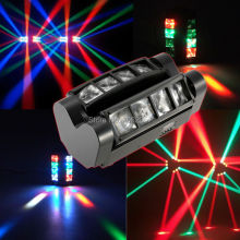 цены Hot sale 8*10W mini led dmx spider light RGBW moving head beam light disco dj professional effect stage lights for club