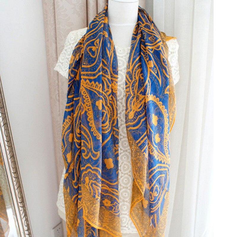 Hot Women Soft Long Voile Neck Large Scarf Wrap Shawl Stole ScarvesRetro Geo Bohemian Shawls Wraps Scarves Xmas Gift