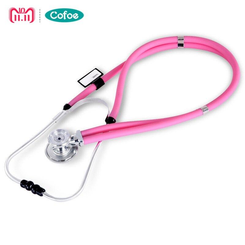 Cofoe Dual Head Stetoscopio Medico Estetoscopio Doppia Testa Lungo Morbido Tubo Sonda di Misura Monitor Angiocarpy Multi Funzione