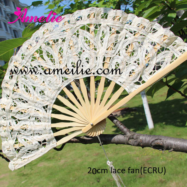 Free Shipping 10pcs lot Battenburg Lace Fan Elegant Classy and Beautiful Adult Lace Fan for Wedding