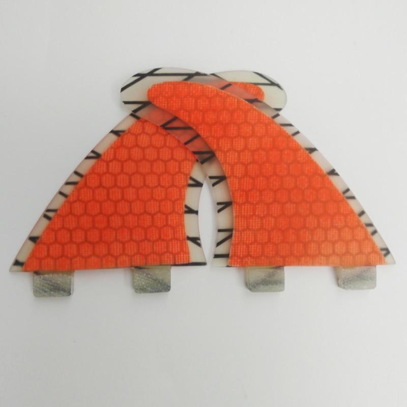FCS Surfboard Fins Orange G5 Honeycomb Carbon Fiber Fin Surf FCS Fins Free Shipping Quilhas