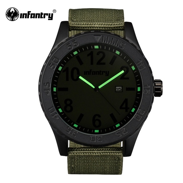 INFANTRY Mens Watches 2017 Tactical Military Luminous Watches Quality Fabric Strap Relogio Masculino Time Module Movement