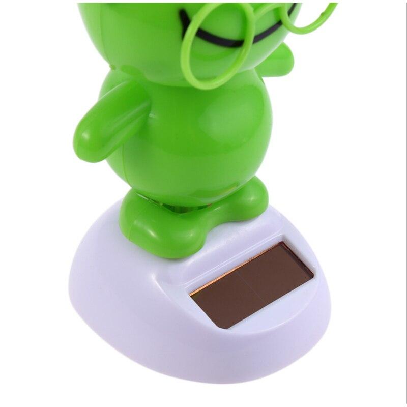 RCtown Solar Powered Swing Animal Toys Lovely Novelty Solar Shaking Head Frog Shark Toy Gifts for Children zk25