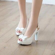 YMECHIC 2019 Летняя мода с бантом бабочкой с открытым носком туфли на ремешке женские белые свадебные туфли для невесты женские туфли лодочки для вечеривечерние