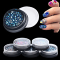 Fashion New Nail Wheel Display Japanese Hot Selling Style Fancy Diamond 2/3/4mm Mixed 5 Colors Choices for Nal Art Decorations
