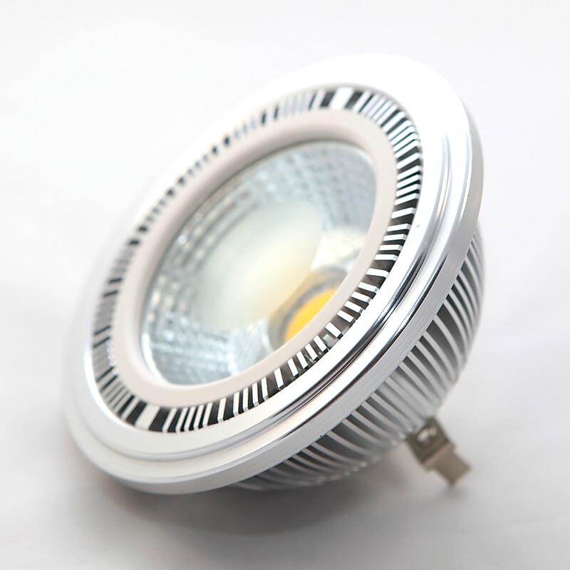 2PCS 15W AR111 QR111 ES111 GU10 LED Lamp AC85-265V/DC12V Spotlight COB Bulb Light Ampoule G53 Warm White / Cool White Dimmable letterfire e14 5w 380lm 6000k white light cob spotlight lamp silvery grey ac 85 265v