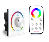 Switch Knob RGB Touch Panel Dimmer RF Wireless Remote 86 Style Socket Touch Panel Controller DC12V 24V